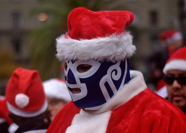 Masked Wrestler Santa
