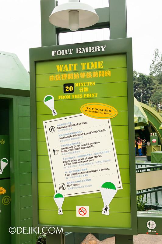 TSPD - Wait Time board
