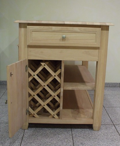 k chentisch mit arbeitsplatte weinregal holz massivholz arbeitsfl che tisch neu ebay. Black Bedroom Furniture Sets. Home Design Ideas