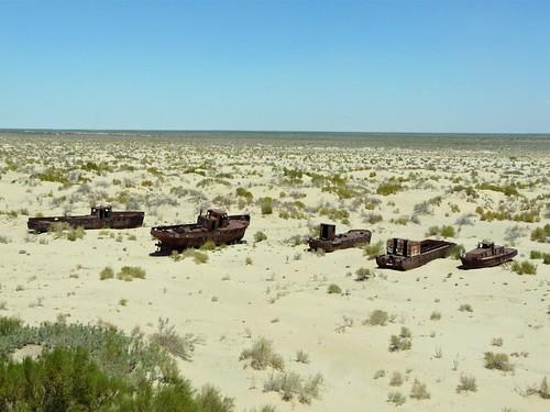 Cementerio de barcos del Mar de Aral