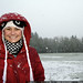 rachel, walking home from school in the falling snow    MG 0594