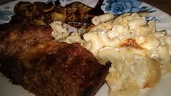 Meatloaf, Fried Summer Squash, Macaroni And Cheese…