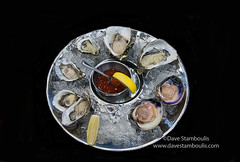 Fresh oysters at a seafood restaurant in Bangkok,…