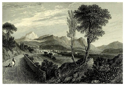 005- Chamberry desde la carretera de Aix-The hand-book for travellers in Italy from London to Naples-1838- William Brockedon