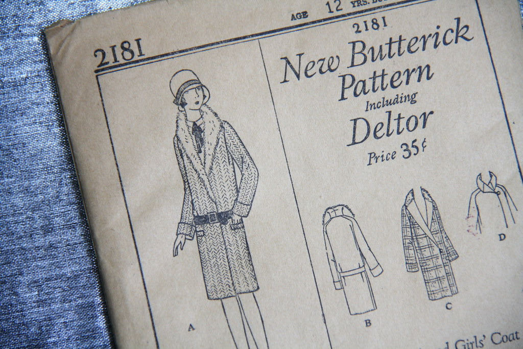 sewing saturday - 1920s coat pattern
