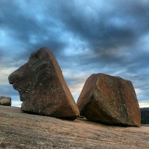 Big rocks.