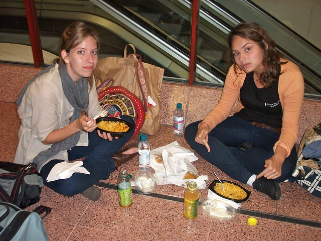 Travelling with sisters - airport dinner
