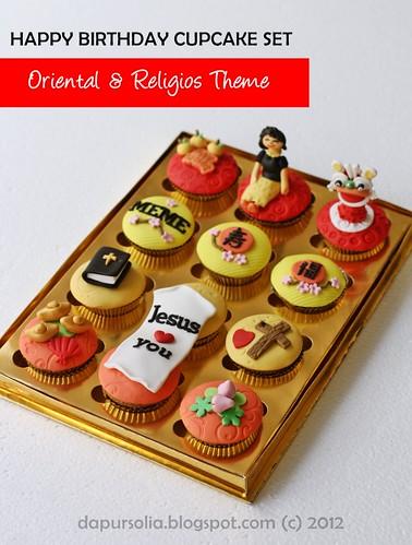 Oriental & Religious Cupcake Set