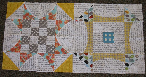 first two blocks of the QAL QCR by Debbie / Prairie Emporium