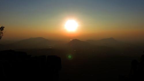 sunset sun nature colors silhouette fog canon photography evening pleasant horsleyhills madanapalle sx40 horseleyhills canonpowershotsx40hs canonsx40