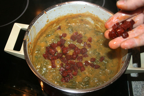 33 - Chorizowürfel hinzufügen / Add chorizo dices