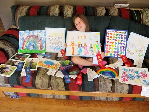 M with all of her 2012 fair entries