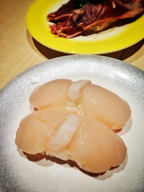Hokkaido Scallop Nigiri Sushi, Ryoshi Sushi Ikeikemaru
