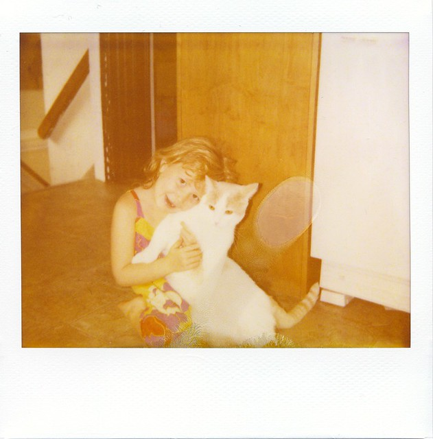 polaroid - Claire + Mr Giggles
