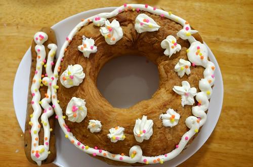娘 10歳の誕生日ケーキ 天使のチョコリング
