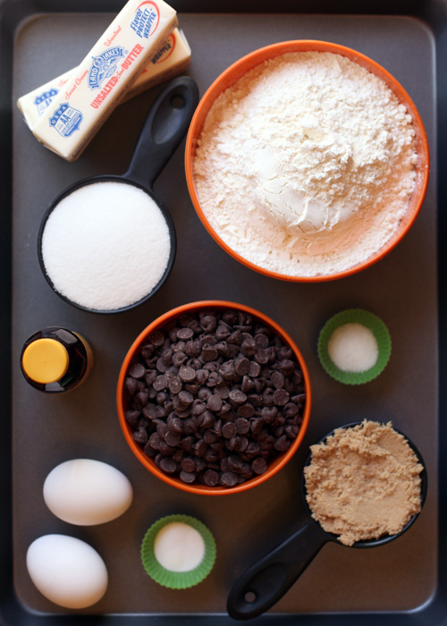 Chocolate Chip Cookie Ingredients