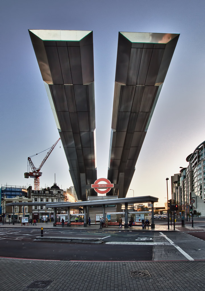 Vauxhall Cross bus station HDR