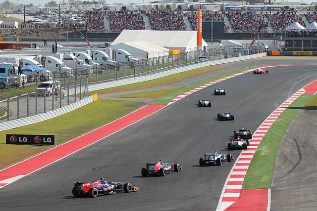 F1 Austin Sunday - lap 1, T12-T13