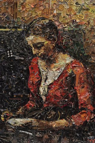 Vik Muniz, Girl reading, after Jean Baptiste Camille Corot, 2012