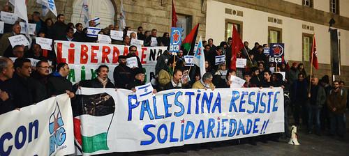 Concentracion solidaria Palestina Vigo 19-11-12