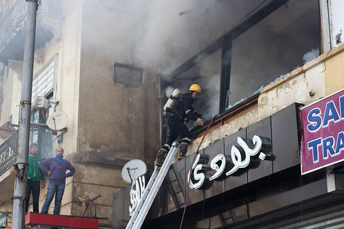 Al Jazeera office burnt down on Tahrir