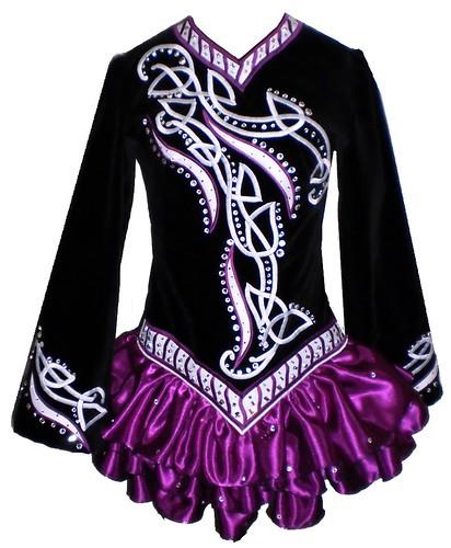 Ирландское танцевальное платье