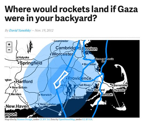 Where would rockets land if Gaza were in your backyard? - Quartz by stevegarfield