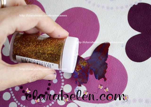 Inspiraciones manualidades y reciclaje mariposas de - Como adornar una cartulina ...