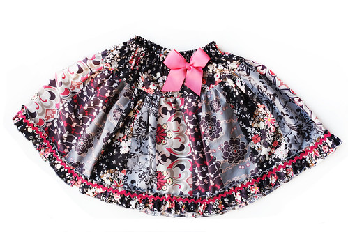 Rock n Romance stripwork skirt