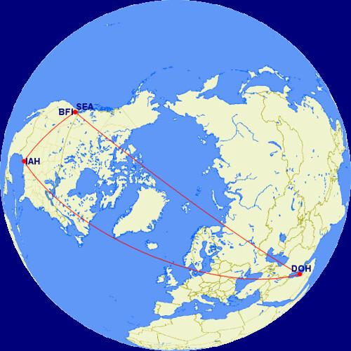 Qatar Trip Map
