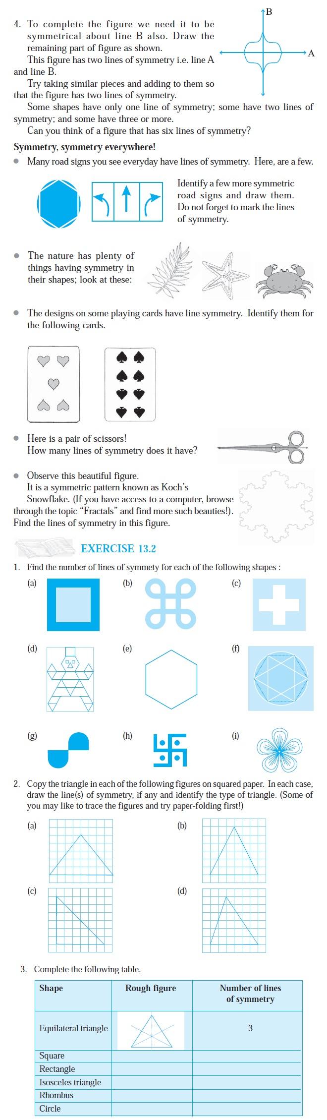 Ncert Class Vi Mathematics Chapter 13 Symmetry Aglasem Schools