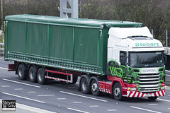 Scania R440 6x2 Tractor - PE12 TXN - Katie Louise - Green & Red - 2012 - Eddie Stobart - M1 J10 Luton - Steven Gray - IMG_0320