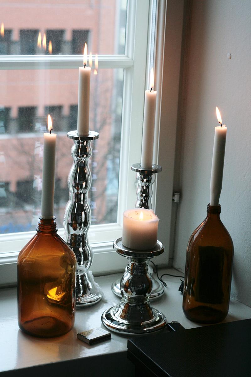 kynttilä, ikean hopeiset kynttilänjalat