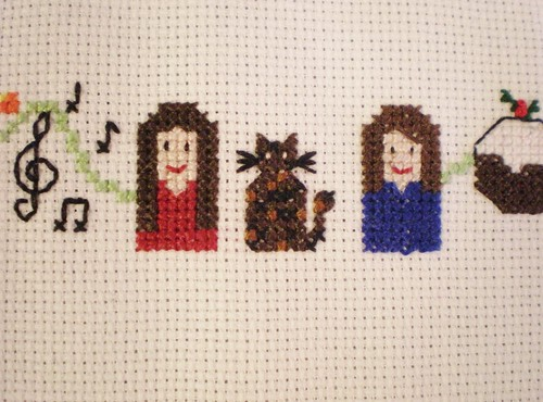 Cross Stitch Sian Lixie and Cat