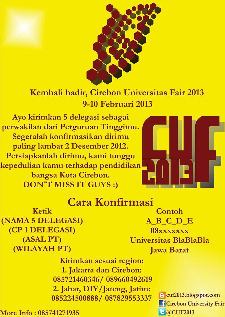 Jenis Kerjasama Dan Kriteria Sponsorship Cirebon University Fair 2013