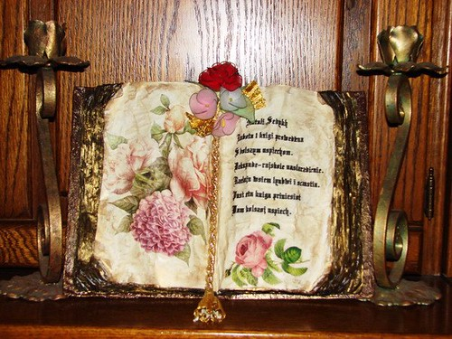 """Old"" book with decoupage"