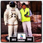 Just hanging out, shooting the Space Coast Marathon... They make everyone run in space suits!