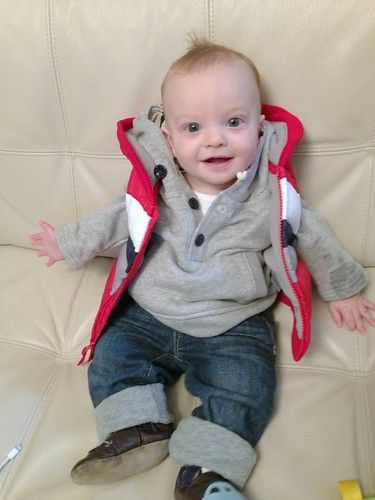 Luca in his Vest