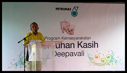 Speech by Pegawai Daerah Manjung : Sentuhan Kasih Deepavali with Petronas @ Kampung Wellington, Manjung, Perak