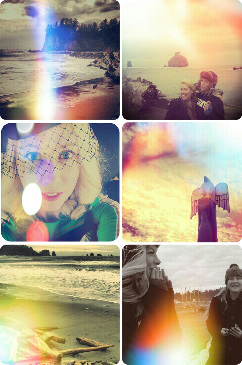 {first beach} collage