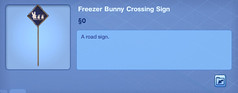 Freezer Bunny Crossing Sign