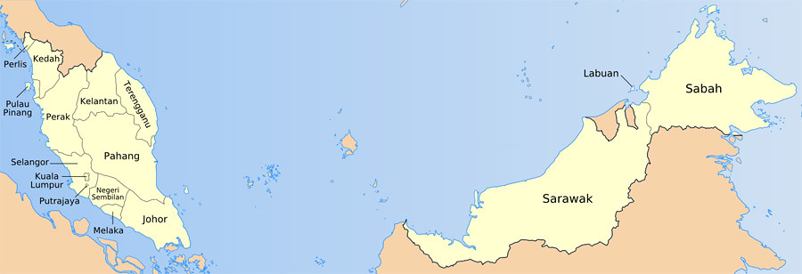 malaysia map, карта малайзии