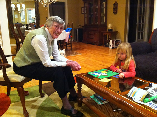 Playing with Great-Grandma