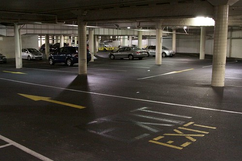 Down in the basement car park of Altona Gate Shopping Centre