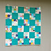 nine patch baby boy quilt by One ShaBby ChiCk