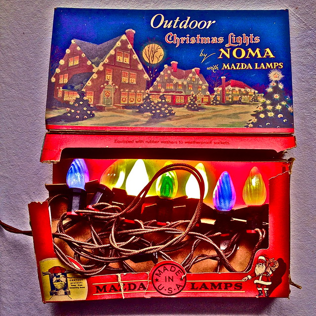 Noma Christmas Decorations: Vintage Christmas Decor 1940s Noma Lites Lights With Box