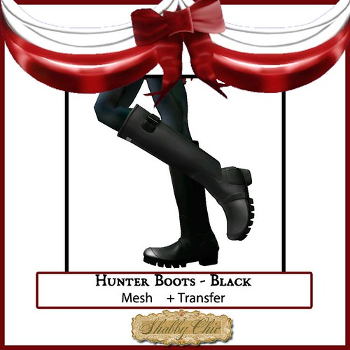 Shabby Chici black Huter Boots by Shabby Chics