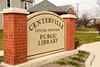 Centerville  Center Township Library Sign