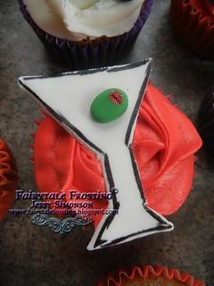 50th Martini Cupcake