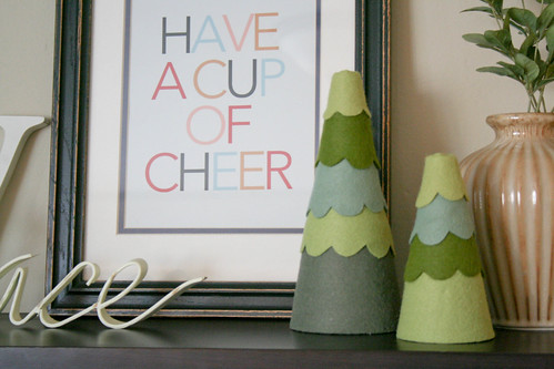 Felt tree decor | yourwishcake.com